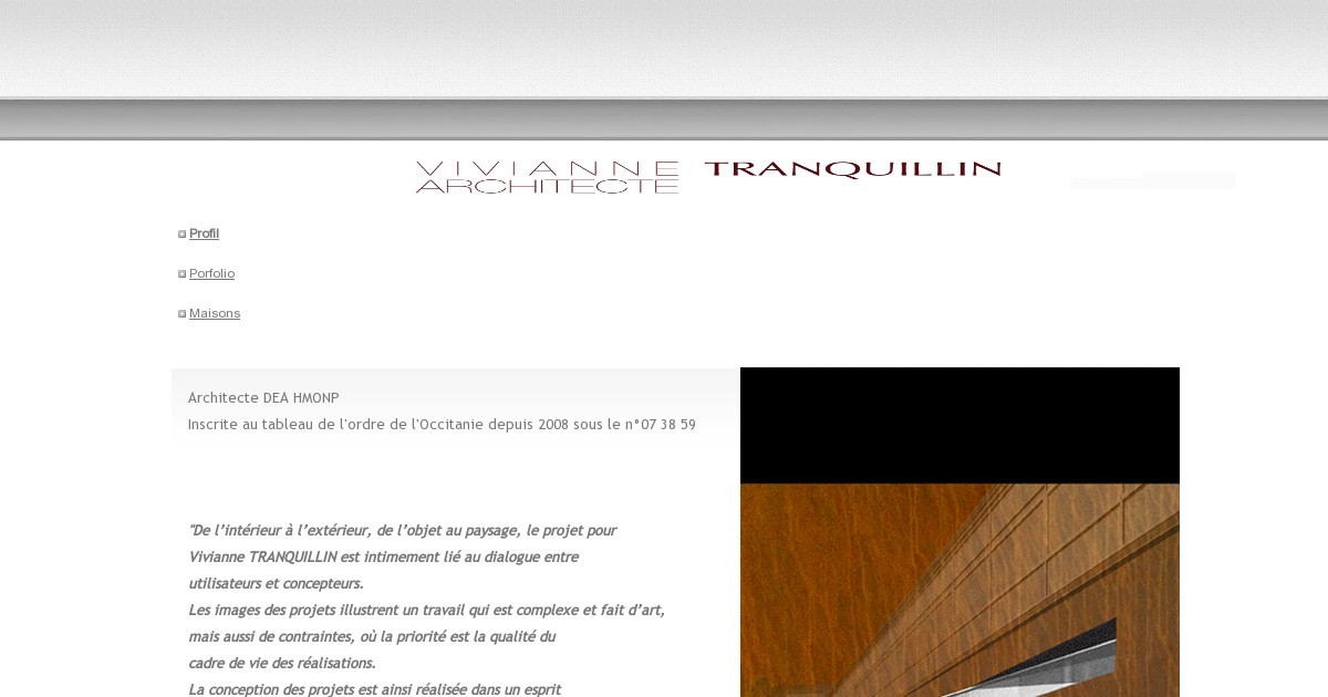 Architecte tarbes vivianne tranquillin accueil for Architecte tarbes